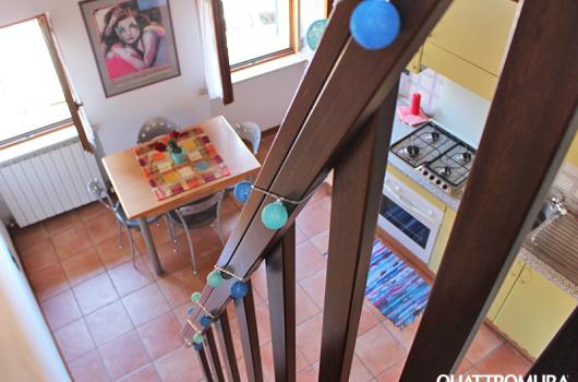 Cucina vista dal primo piano