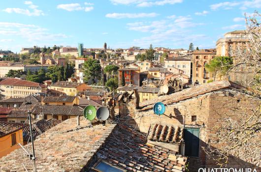 Vista di Perugia dal quarto piano